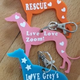 Greyhound Keyrings