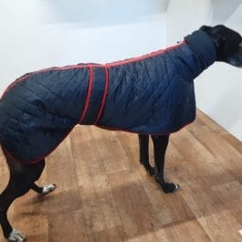 Greyhound Quilted Coat With Snood