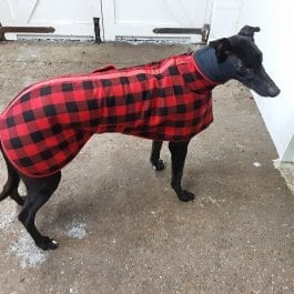 Greyhound Warm Tartan Fleece Jacket With Snood